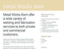 Tablet Preview of metal-works-kent.co.uk